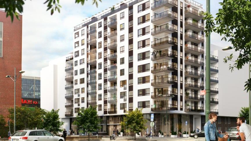 I oktober startar Riksbyggen försäljningen i Brf Stjärnfyren i Västra hamnen. Brf Stjärnfyren kommer att innehålla 62 lägenheter.