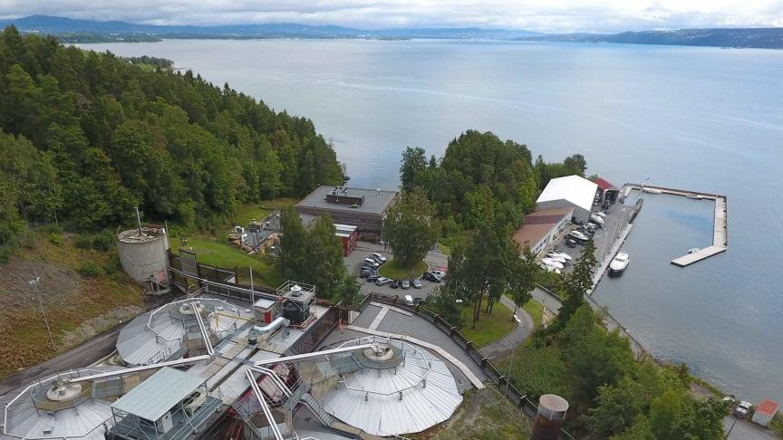 Multiconsult skal utrede VEAS sitt nye administrasjonsbygg «Vannhuset» ved renseanlegget i Slemmestad. Foto: Multiconsult