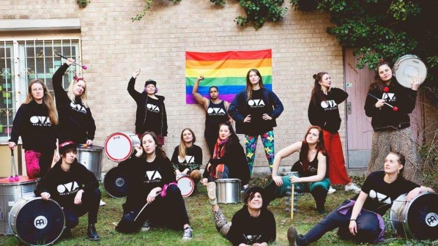 OYA, RRRIOTSAMBA  är ett av banden som spelar på endagsfestivalen Amplified – För en jämställd musikscen.