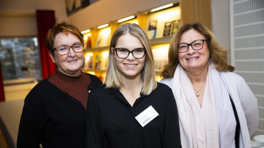 """""""Acceleratorn har varit otroligt värdefull för oss"""", menar Johanna Johansson, vd för PlantVation, ett av fem startup-bolag som deltagit i årets Forest Business Accelerator. Här med Monica Vestberg, BizMaker och Gun Blom Lundgren, IBM."""
