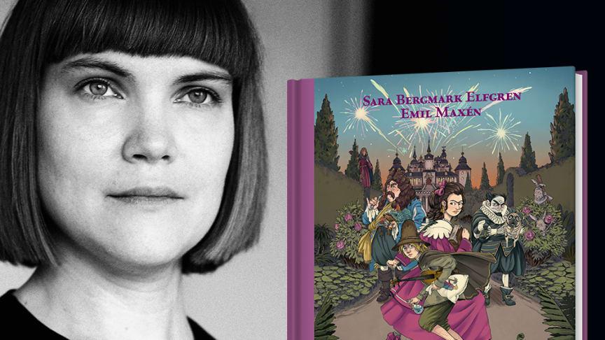 Författaren Sara Bergmark Elfgren läser ur boken Knäckarbanketten på Livrustkammaren.