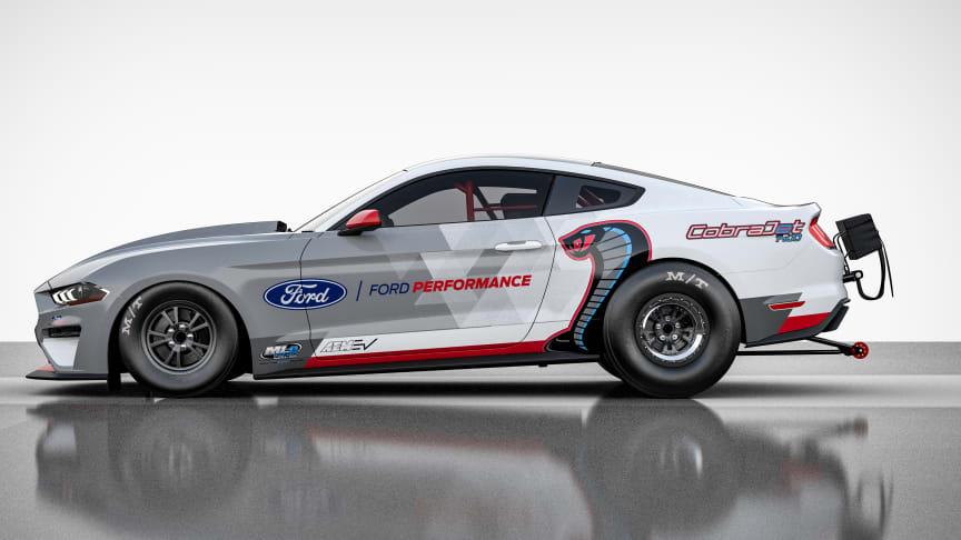 Az új Ford Mustang Cobra Jet teljesen elektomos hajtáslánccal