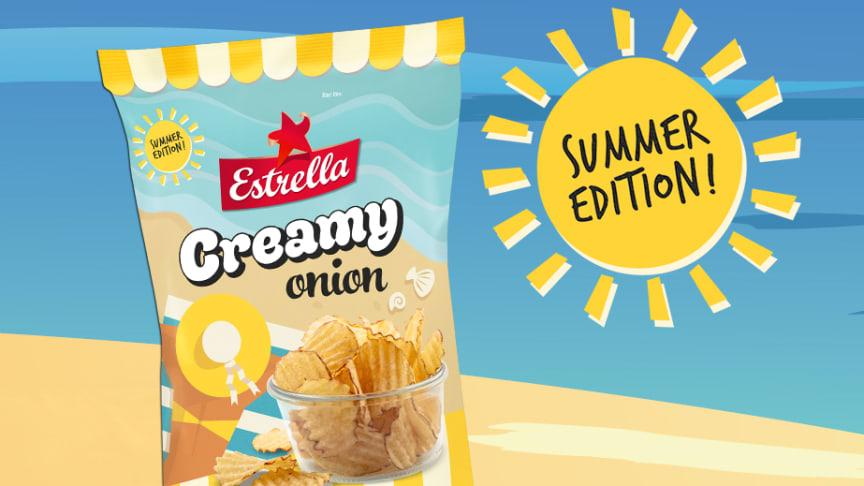 Estrella Sommarsnacks 2020: potatischipset Creamy Onion lanaseras 11 maj, v 20.