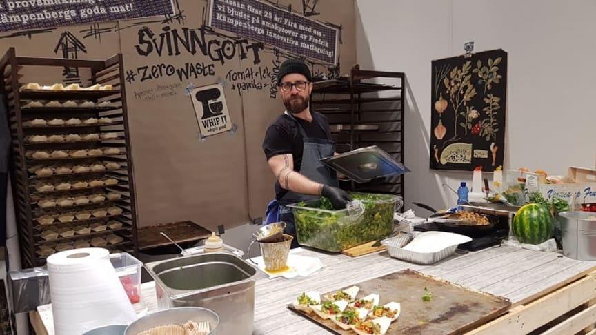 Möt Fredrik Kämpenberg i sin Svinnrestaurang på GastroNord.