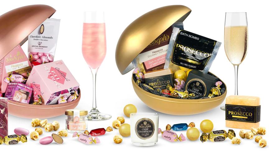 Efter förra årets succé lanserar Bluebox det lyxiga påskägget Pink champagne