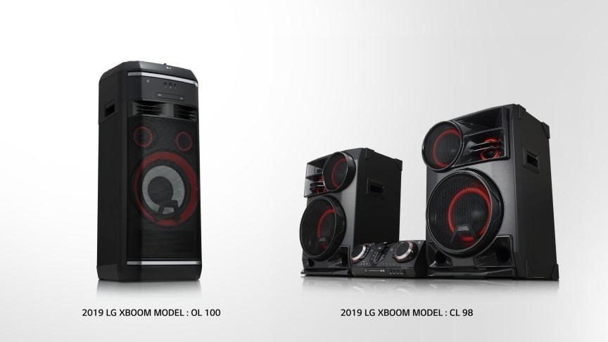 LG presenterer spennende lydopplevelser med  nye XBOOM-modeller på CES 2019
