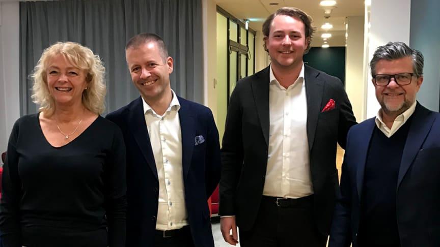 Från vänster: Maria Stridh, Dieter Sand, Johan Stridh och Staffan Littmarck
