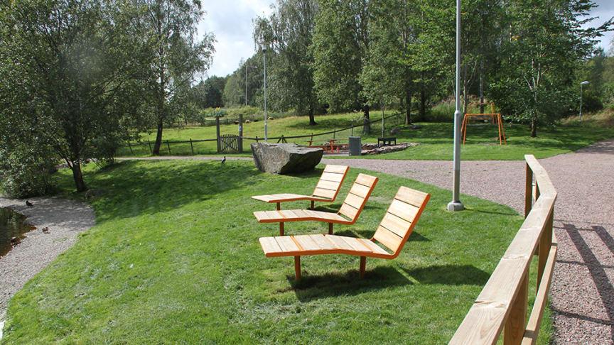 Solig del av parken Gärdsås mosse.