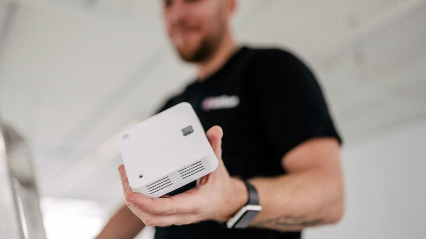 Brandvarnare som kommunicerar via wifi och även fungerar som ett enklare inbrottslarm.