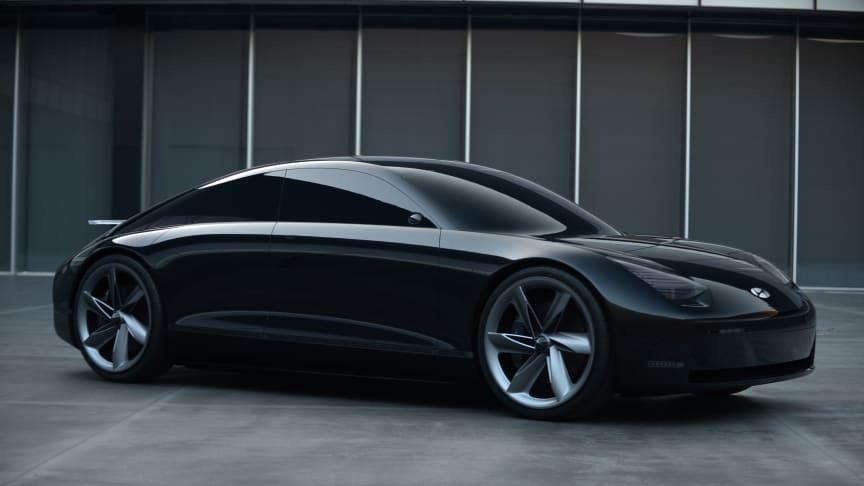 """Hyundai presenterar nya elbilskonceptet """"Prophecy"""" Concept EV."""