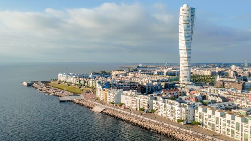 Vy över Västra Hamnen i Malmö