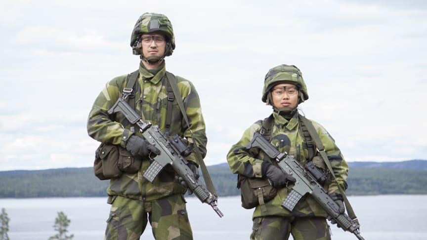 Soldater försvarsövning Härnön