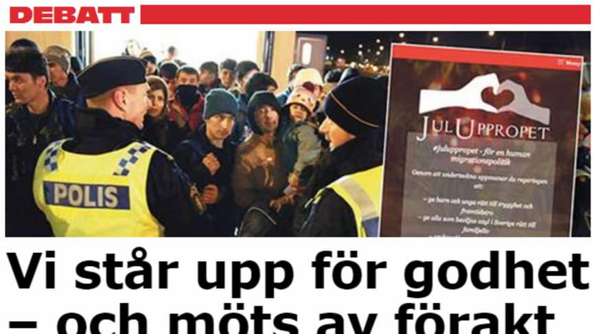 Aftonbladet debatt den 26 januari