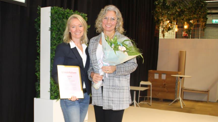 Eva Falk, ansvarig för Hogias externa utbildningsverksamhet, tillsammans med Barbro Lien Rönn, ansvarig för kompetensförsörjning på Hogia.