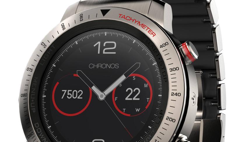 fēnix Chronos Titanium med lænke i børstet titanium-hybrid