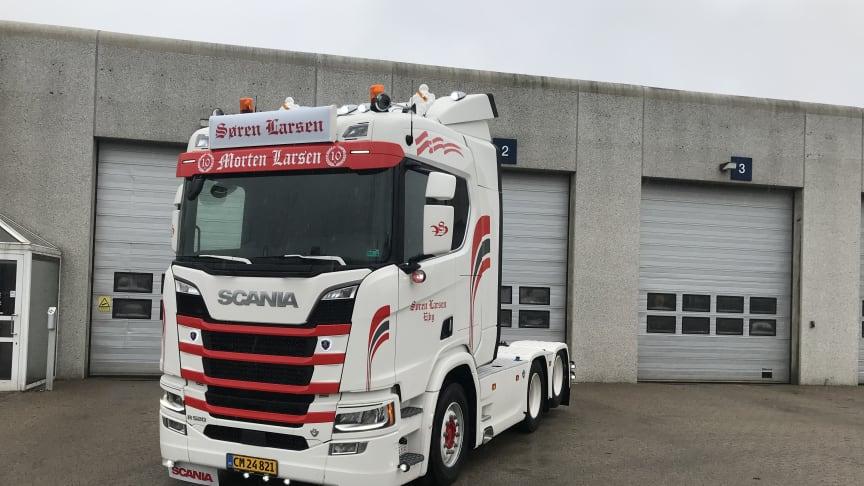 Søren Larsens nye Scania R 520 V8.