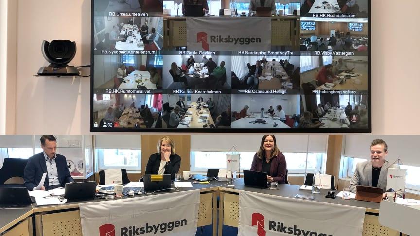Fullmäktige genomfördes digitalt. Presidiet var placerat på Riksbyggens huvudkontor på Kungsbron i Stockholm.