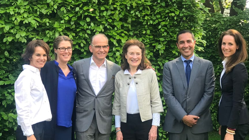 Torgeir silseth og UNICEFs administrerende direktør Henrietta Fore