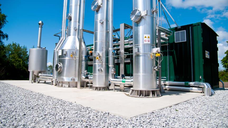 Biogasanläggning på Källby avloppsreningsverk i Lund