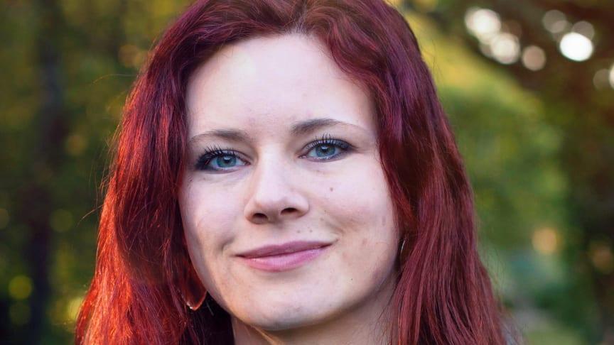 Rebecka Le Moine, pratade på frukostseminarie hos Svenskt Sigill