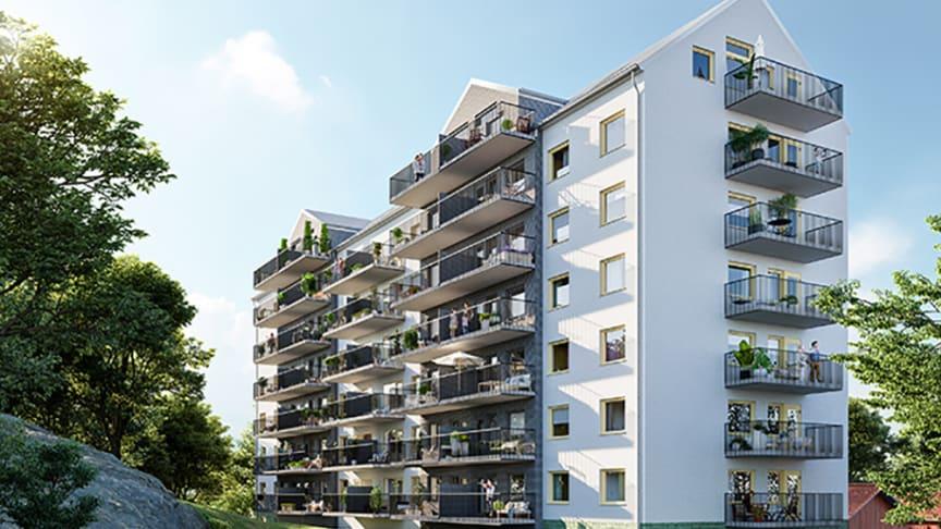 Visionsbild. Huset kommer bli sex våningar exklusive vindsvåning.