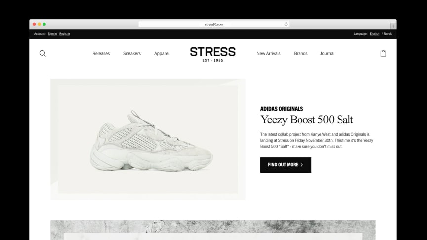 Panagora launches Stress95's new e-commerce, which directly led to increased conversion