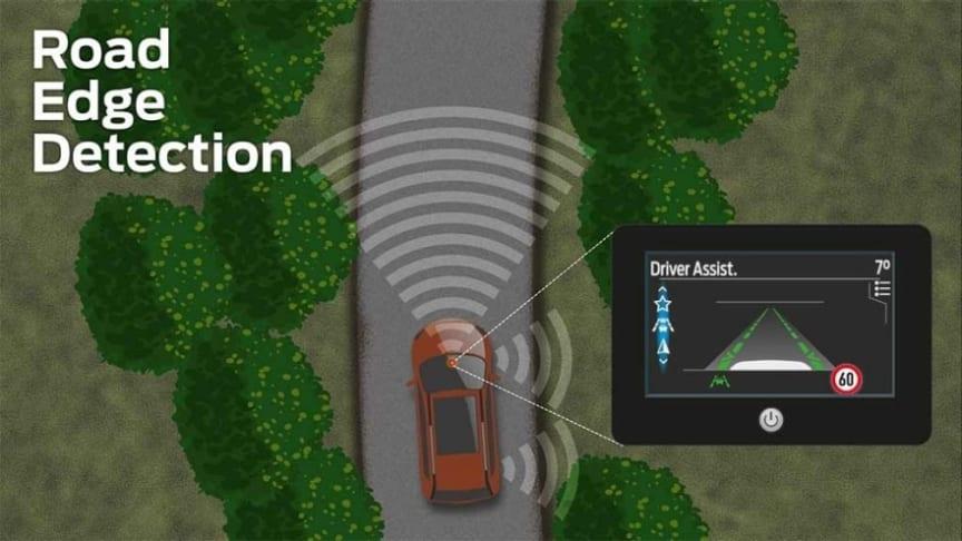 Az Útpadka Érzékelő arrébb kormányozza az autót az út peremétől, így a vezetés kényelmesebb a vidéki utakon