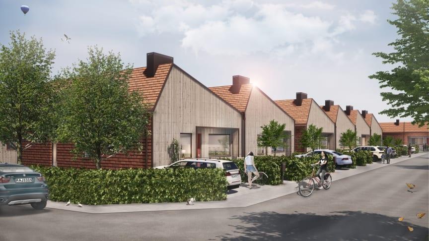 Unika enplanshus med egen trädgård i Norra Borstahusen har rönt en stark efterfrågan på marknaden.