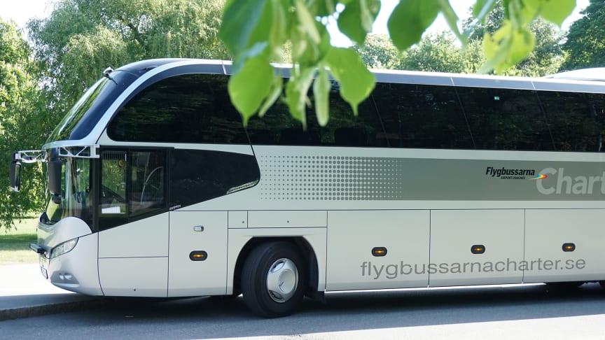 Nu tankar Flygbussarna Charter fossilfritt bränsle i form av HVO.
