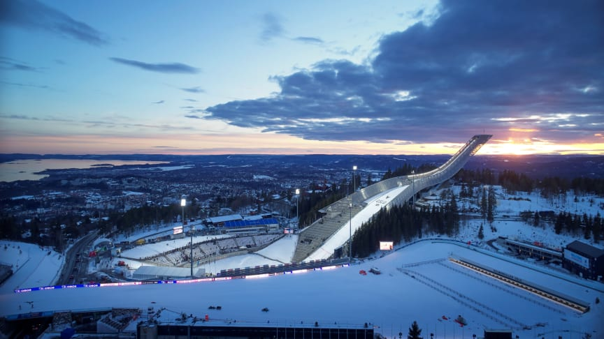Holmenkollbakken Ski Jump in Oslo, designed by JDS Architects. One of the four winners  of  A.C. Houen Fund's Certificate for Outstanding Architecture 2019.