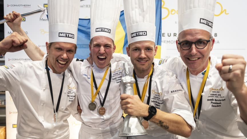 Svenska teamet. Silvermedalj i Bocuse d'Or Europe