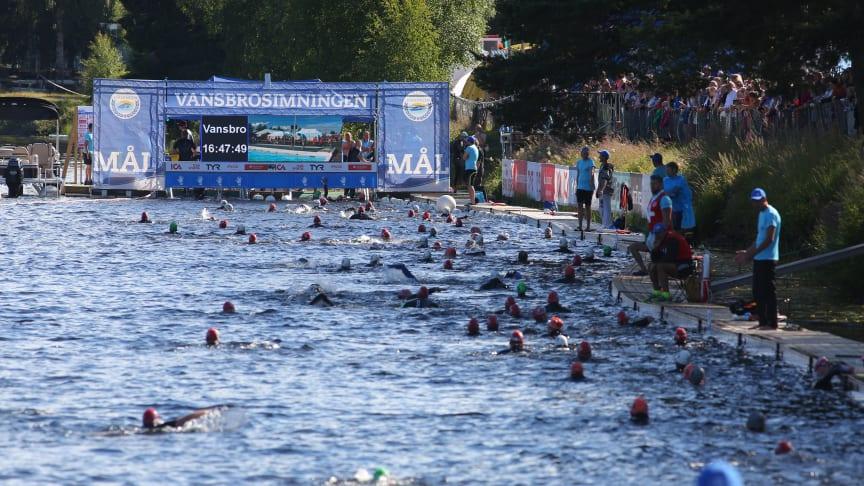 2018 blir Vansbrosimningen en del av Global Swim Series. Foto: Andreas Hansson