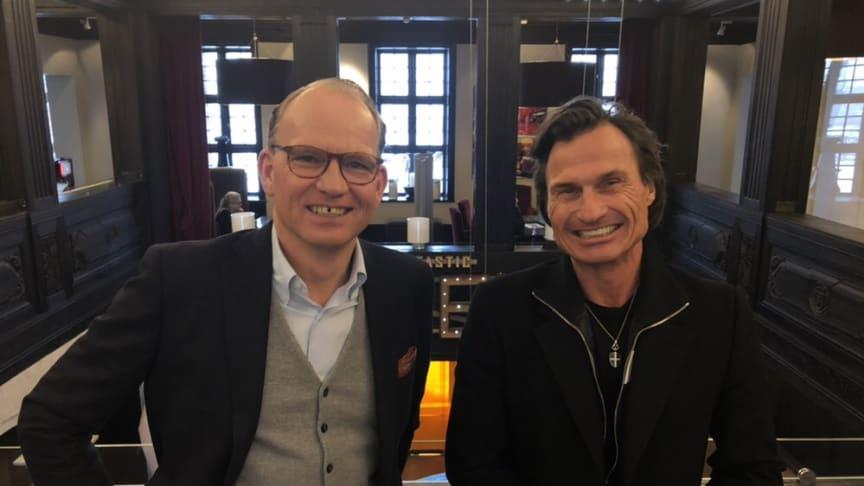 Torgeir Silseth, koncernchef och Petter Stordalen, grundare Nordic Choice Hotels. Bild: Nordic Choice Hotels