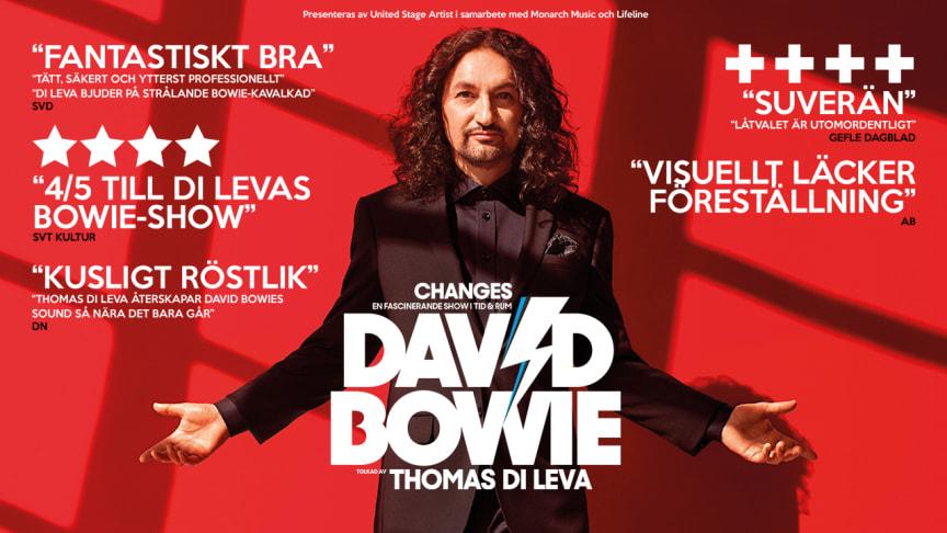 "Thomas Di Leva tar sin kritikerrosade David Bowie-Show ""Changes"" på turné - kommer till Lorensbergsteatern i Göteborg"