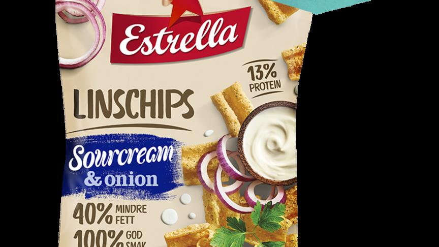 Estrella Linschips Sourcream & Onion lanseras nu i mindre påse, 35 gram.