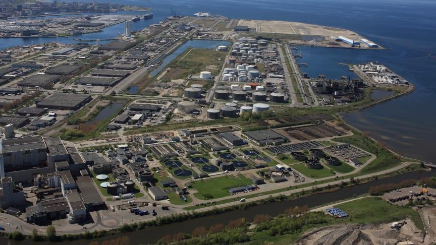 Sjölunda avloppsreningsverk, Norra hamnen i Malmö