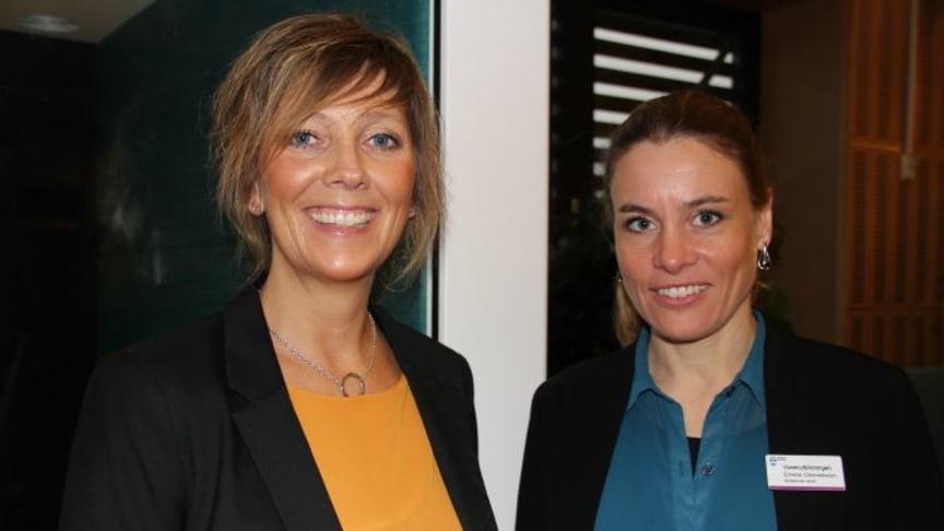 Camilla Eckersten, rektor Vuxenutbildningen i Trelleborg, och Emelie Clemedsson, biträdande rektor för Vellinge lärcenter. Foto: Elin Falkenström
