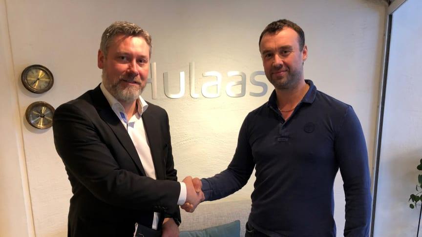 Petter Mellquist, CEO in Biovac Environmental Technology and Terje Skaarnes, former owner of BRA Miljöteknik Sverige AB
