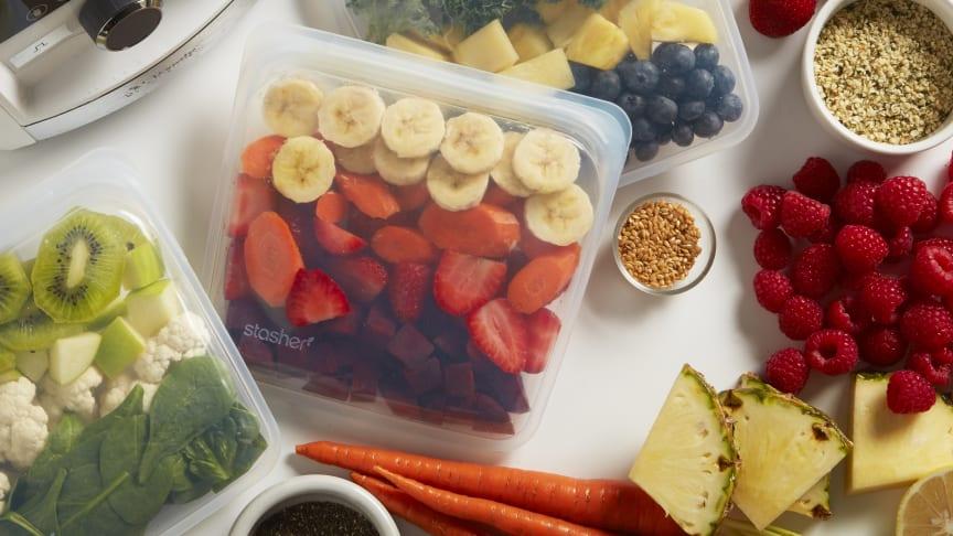 Förvaringspåsen är utmärkt för att frysa in frukt och grönsaker