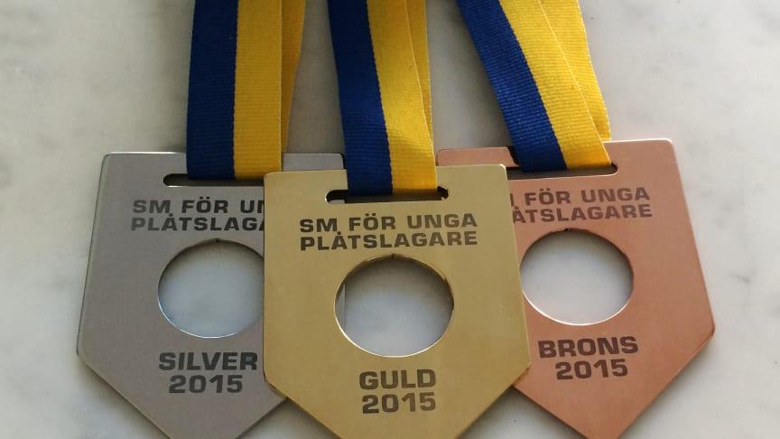 SM för unga plåtslagare, medaljer 2015