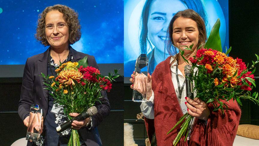 Anna Petterson, Region Västerbotten och Hanna Meier, Vattenfall, hyllades under Nolia Ledarskap i Umeå.