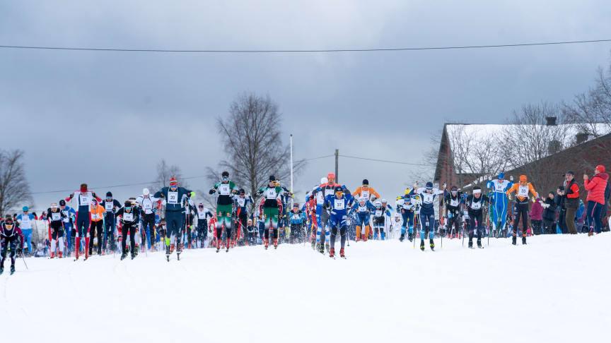 Med godt over 700 påmeldte hadde Trysil Skimaraton den største deltakelsen siden 2015. Foto: Jonas Sjögren