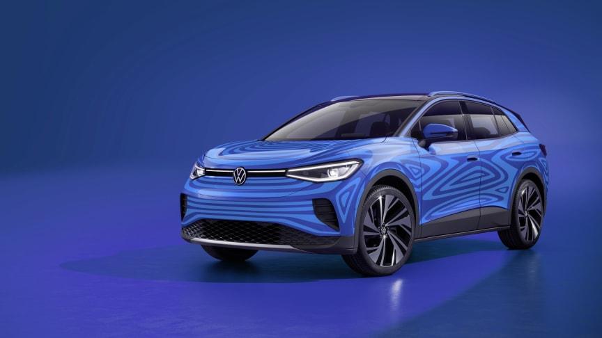 Volkswagen giver et smugkig på den nye 100 % elektriske ID.4 SUV