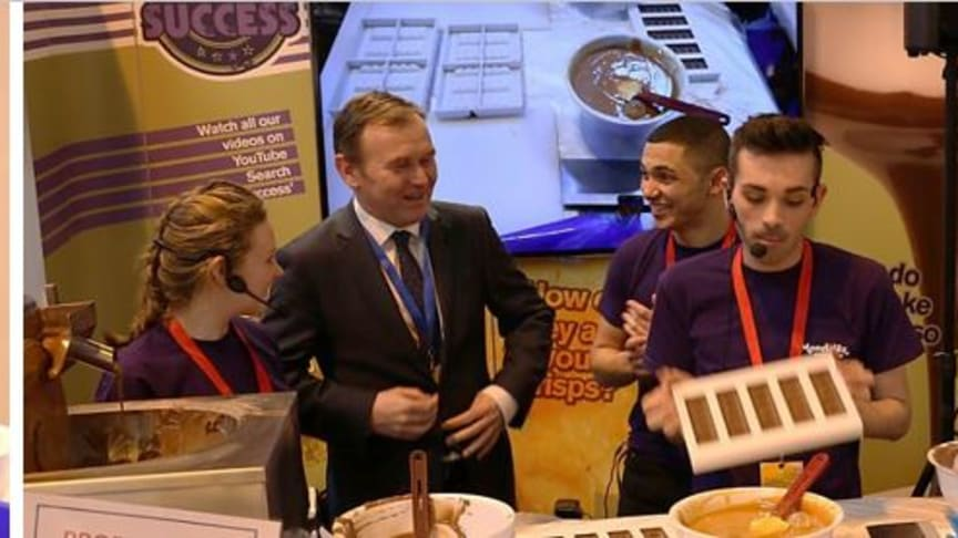 Olivia representing Mondelēz International at the Big Bang Fair 2016 in Birmingham - the UK's largest celebration  of science, technology, engineering and math's for young people.