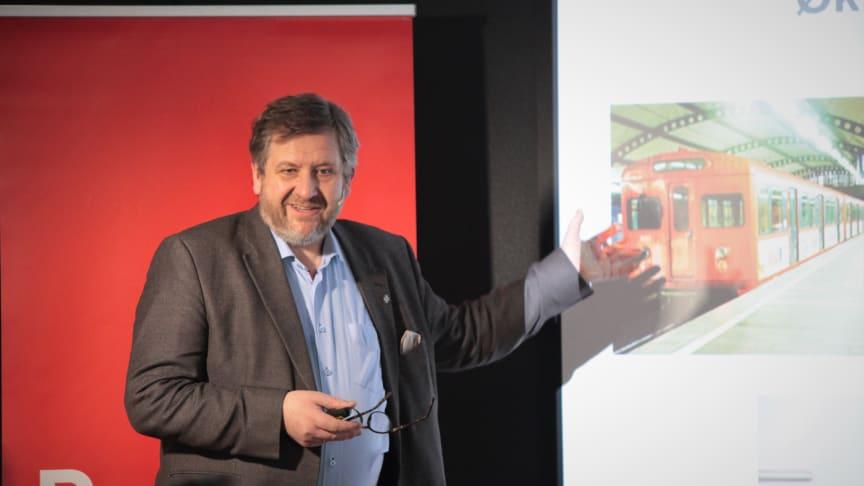 Ruters administrerende direktør, Bernt Reitan Jenssen, presenterte tall som viser en trafikkvekst på 5,9 prosent og 371 millioner reisende i 2017.