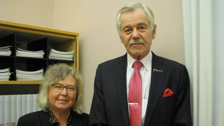 Lena Ingvarsson har valts till vice preses och Jan Fryk har valts till preses i KSLA.