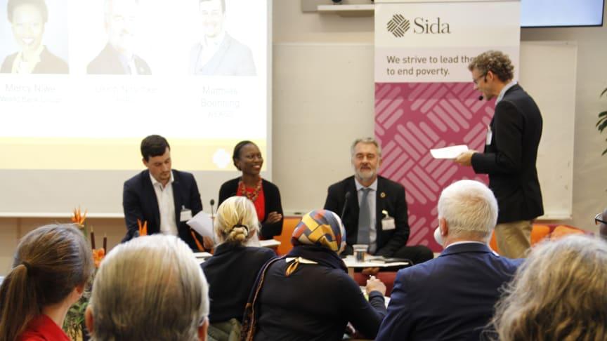 From the left: Matthias K. Boehning, Mercy Niwe, Uli Nitschke and Niklas Eklöv.