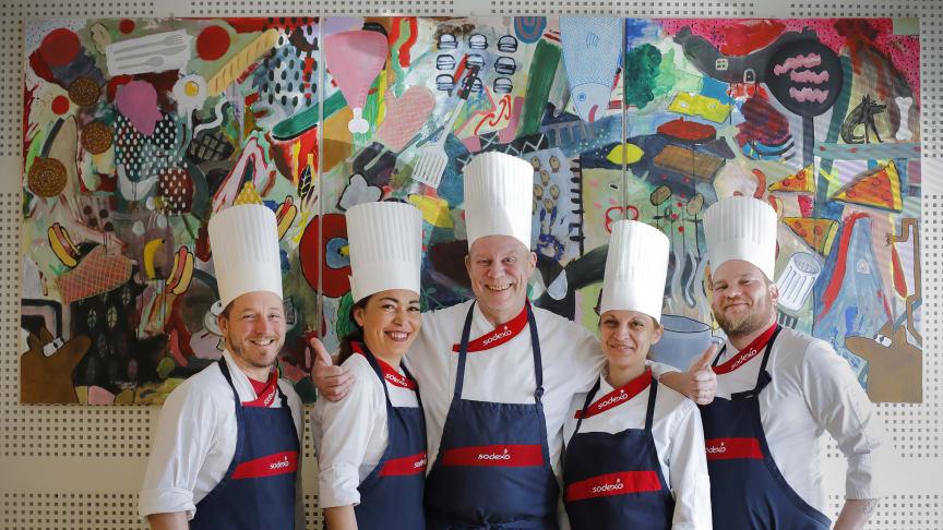 Patrick Dunn; Alisha Mynders; Michael Bäckman; Nevena Misic, Commis; Johan Grund. Foto: Per Erik Berglund