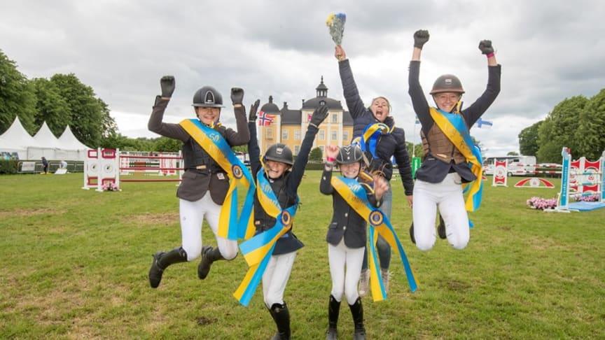 Örebro Ryttarteam vann Folksam Ponnyallsvenska, och SM-guldet, 2019. Foto: Roland Thunholm