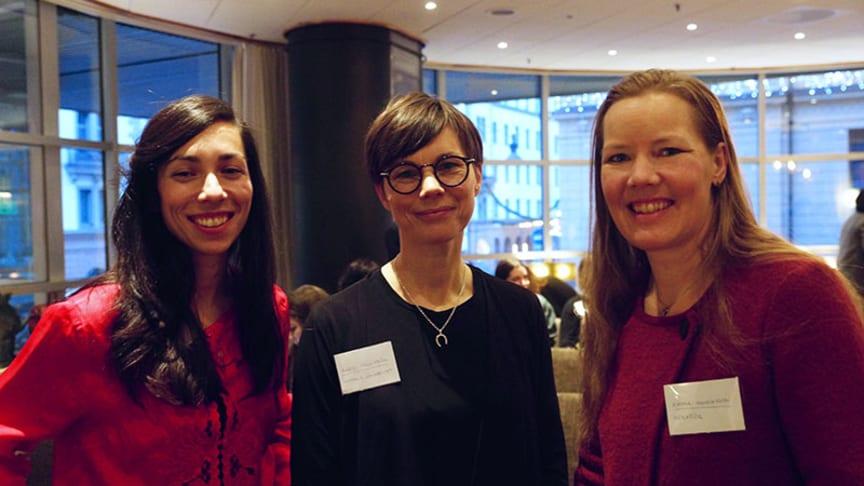 Madeleine Fridh, Rädda Barnen, Karin Fängström, Uppsala universitet och Emma Henriksson, fd ordförande i Riksdagens socialutskott.